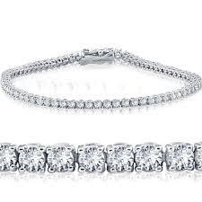 white diamond tennis bracelet images 3ct lab created diamond tennis bracelet 14k white gold 7 quot jpg