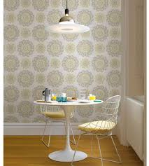 Peel And Stick Wallpaper by Grey Yellow Suzani Prints Peel Stick Wallpaper Stairs Bathroom