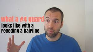 what a 4 guard buzz cut looks like with a receding hairline youtube