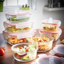 Food Storage Glass Containers 20 99 Vonshef 7 Piece Microwavable Glass Container Storage Set