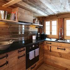 cuisine chalet bois cuisine chalet moderne meilleur idées de conception de maison