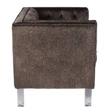 Mohair Upholstery Lumisource Valentina Contemporary Accent Chair In Brown Mohair