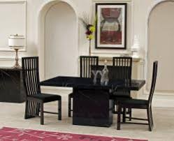 black marble dining table set dolce black marble 6 dining table furniture store ni