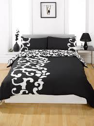 duvet quilt cover bedding set black single double king kingsize