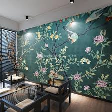 flowers and birds wall mural vintage chinese painting wallpaper custom 3d wallpaper bedroom livingroom hotel interior decoration mural chinese style