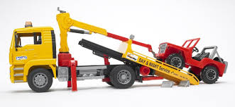 bruder fire truck man tga breakdowntruck with cross country vehicle bruder 02750