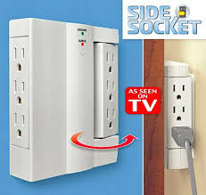 amazon com side socket 6 outlet surge protector swivel wall power