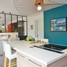 cuisine bleu turquoise merveilleux cuisine mur bleu turquoise id es de design with et