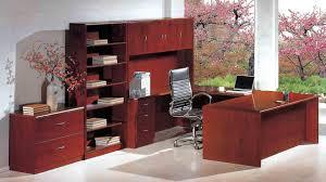 U Shaped Home Office Desk by Futuristic Dark Mohogany Cherry Finish U Shaped Home Office Desk F