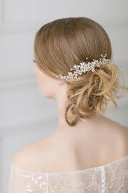 wedding hair combs wedding pearl hair gold swarovski headpiece bridal hair