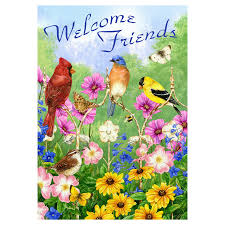 welcome spring garden flags home outdoor decoration