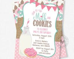 cookie party supplies christmas milk and cookie birthday invitation christmas milk