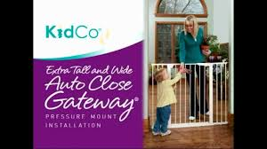 Extra Wide Gate Pressure Mounted Kidco Extra Tall U0026 Wide Pressure Mount Gate Youtube