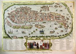 Venice Map Views Of Venice Art Prints Of Florence Antique Maps Ancient Print