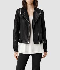 biker jacket sale allsaints range leather biker jacket in black lyst