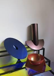 these spare elegant folded metal vessels by italian designer