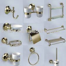 bathroom accessories bathroom accessories set gold palted chrome plated brass bathroom