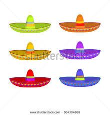mexican sombrero vector seamless pattern stock vector