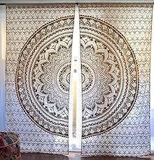 amazon com gold or silver mandala tapestry curtains boho