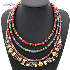 handmade statement necklace images Latest women multi layers statement necklace boho style cloth wrap jpg