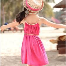 summer vest dress cute beach dress kids lovely candy color
