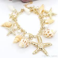 star bracelet charm images 2017 bohemian starfish seashell charm bracelet jewelry vintage jpg