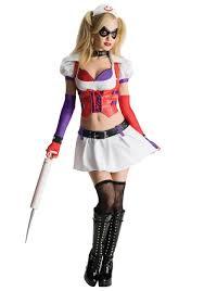 interactive halloween costumes arkham asylum harley quinn costume arkham asylum harley