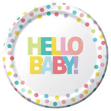 baby plates 10ct dinner plate multicolored hello baby printed dinner plate