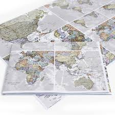 Paper Maps Classic World Map Wrapping Paper By Maps International