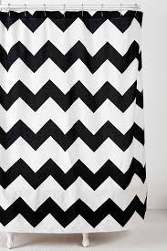 Gray And White Chevron Curtains by Zigzag Shower Curtain Urbanoutfitters For Our New Black And White