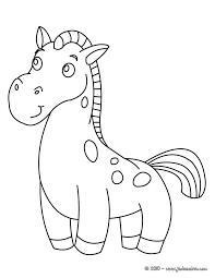 coloriages bébé cheval fr hellokids com
