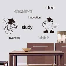 popular quotes girl buy cheap quotes girl lots from china quotes dsu creative idea study innovation think invention english words wall art mural decor cartoon boys girls