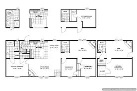 double wide floor plans 4 bedroom ideas including bath mobile home