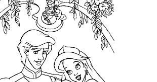 coloring pages ariel eric ariel mermaid free