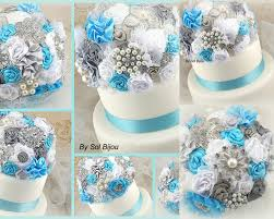 cake topper brooch topper turquoise