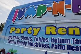 party rentals ta nissan nv 2500 gloss 3m wrap for jump and play party rentals