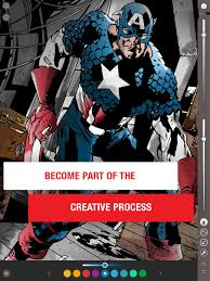 comic book color marvel comics announces color your own app cosmic book news
