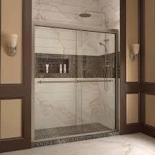 22 Inch Shower Door Dreamline Duet 56 60 Inch Frameless Bypass Sliding Shower Door