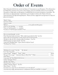 wedding itinerary template for guests wedding itinerary template basic timeline templates helendearest
