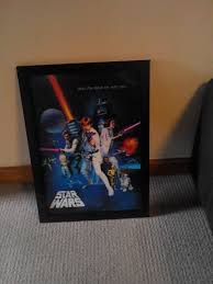 star wars a new hope 3d lenticular movie poster framed 2007