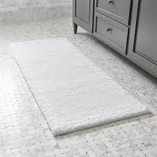 Bathroom Rug Runner Washable Ultra Spa White 24 X60 Bath Rug In Bath Rugs Reviews Crate