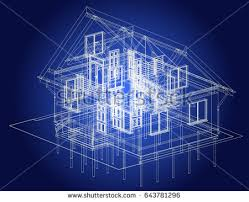 blueprint architectural design halftimbered residential house