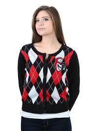 womens black cardigan sweater womens harley quinn cardigan sweater
