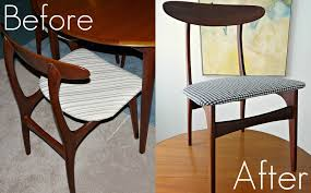 How To Reupholster Dining Chairs DIY Houndstooth Upholstered - Reupholstering dining room chairs