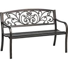 iron park benches amazon com mosaic powder coated 33 5 x 24 x 50 5 inch cast iron