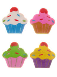 Cupcake Home Decorations Cute Cupcakes Eraser Set By Streamline Nyc Gifts Work Plasticland