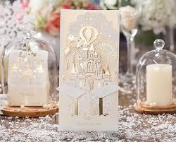 wedding invitations in a bottle dhl laser cut hollow castle firework skyline wedding