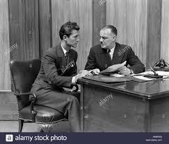 1940s Desk 1940s Men Office Desk Work Business Paperwork Contract Suit Stock