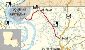 louisiana highway map louisiana highway 66
