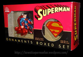dc direct superman ornaments boxed set 2002 a superman